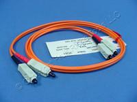 Leviton 1M Fiber Optic Multi-Mode Duplex Patch Cord Cable MM SC-SC 50 5C200-M01