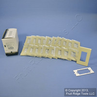 20 Leviton Ivory 1-Gang Decora Snap-On Screwless GFCI Wallplate Covers Polycarbonate Plastic Commercial Grade 80301-SI