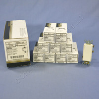 10 Leviton Almond Maintained SPDT Center-OFF COMMERCIAL Rocker Switches 5685-2A