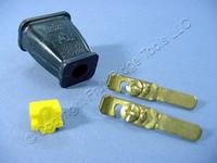Cooper Black Straight Blade Male Plug w/Cord Clip 15A 125V Non-Polarized Non-Grounding NEMA 1-15 1-15P SA840