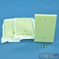 3 Leviton Almond 1-Gang Blank MIDWAY Box Mount Wallplate Plastic Covers 80514-A