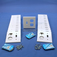 25 Leviton White DEEP Combination Toggle Switch Duplex Outlet Cover Wall Plates 88305