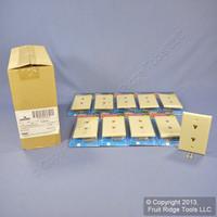 10 Leviton Ivory DUPLEX Phone Jack Wallplates 6-Wire Telephone C2676-I