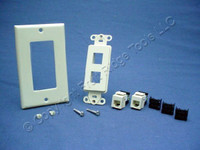 Leviton Ivory Quickport 6-Wire Phone Voice Jacks Modular Telephone 41666-I