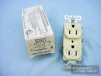 Crouse Ivory Straight Blade Receptacle 15A 125V 5242