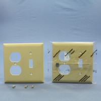 2 Pass and Seymour Ivory UNBREAKABLE Switch Plate Outlet Cover Wallplates TP18-I