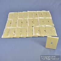25 Leviton Ivory JUMBO Toggle Switch Covers Wallplate Oversize Switchplates 86101