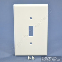 New Leviton White 1-Gang MIDWAY Toggle Switch Plastic Cover Wallplate 80501-W