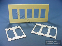 Leviton Ivory 5-Gang Midway Size Decora Screwless Wallplate Cover GFCI GFI SJ265-SI