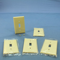 5 Cooper Ivory 1-Gang RESIDENTIAL Toggle Switch Plastic Wallplate Cover 2134V