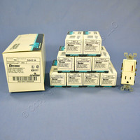 10 Leviton Almond Decora LIGHTED Rocker Wall Switch & Receptacle Outlets 15A 5647-A