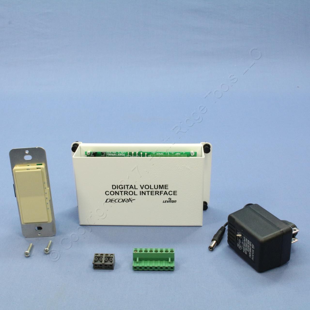 Leviton Structured Media Center Ivory Digital Audio Volume Control Module  48211-IVK