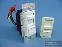 Leviton White Almond Illumatech Dimmer Switch 3-Way 400W Electronic Low Voltage IPE04-LAW