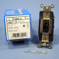 Leviton Brown SPDT Single Pole Double Throw Center-Off Locking Maintained Contact Switch 20A 1285