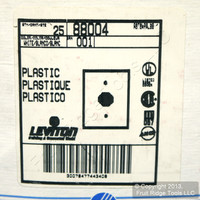 """25 Leviton White 1.406"""" Receptacle Wall Plate Single Outlet Covers 88004"""