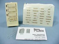 Leviton Face For Decora Home Control Scene Controller 4-Button Bright/Dim Almond 16450-SDA