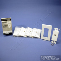 5 Leviton White Decora Phone Jack Wall Plate Telephone Covers C2449-W