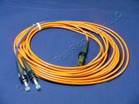 5M Leviton Fiber Optic Multi-Mode Duplex Patch Cable Cord MT-RJ ST 50 50DTM-M05