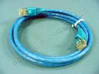 Leviton Blue 5' Cat 6+ Extreme Ethernet LAN Patch Cord Cable Cat6 Plus 5 Ft 62460-5L