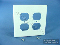 Leviton MIDWAY 2G White Duplex Receptacle Wallplate Outlet Plastic Cover 80516-W