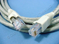 Leviton Gray 10' Cat 6+ Extreme Ethernet LAN Patch Cord Cable Cat6 Plus 10 Ft 62460-10S