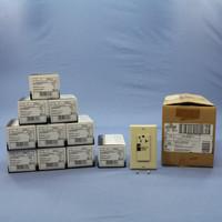 10 Leviton Ivory Hospital Grade LED Surge Receptacle Outlets w/ ALARM 20A 8381-I