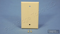 Leviton Ivory Blank MIDWAY 1-Gang Plastic Standard Wallplate Cover Plate 80514-I