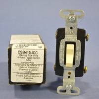 Pass & Seymour Ivory COMMERCIAL Toggle Light Switch 15A 120/277V 4-WAY CSB415-I