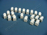 20 New Leviton White Quickport Wallplate Snap-In Blank Filler Plate Inserts 41084-BWB 41084-W