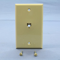 Leviton Ivory 6-Wire Modular Jack Telephone Wall Plate Cover Type 625B4 40238-I