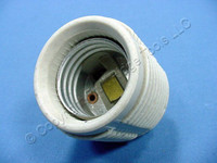 Leviton Medium Base Threaded Porcelain Single Circuit Lamp Holder Light Socket 660W 250V 20080-198
