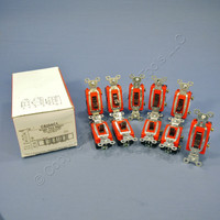 10 Pass & Seymour COMMERCIAL Toggle Light Switches 20A CS20AC1