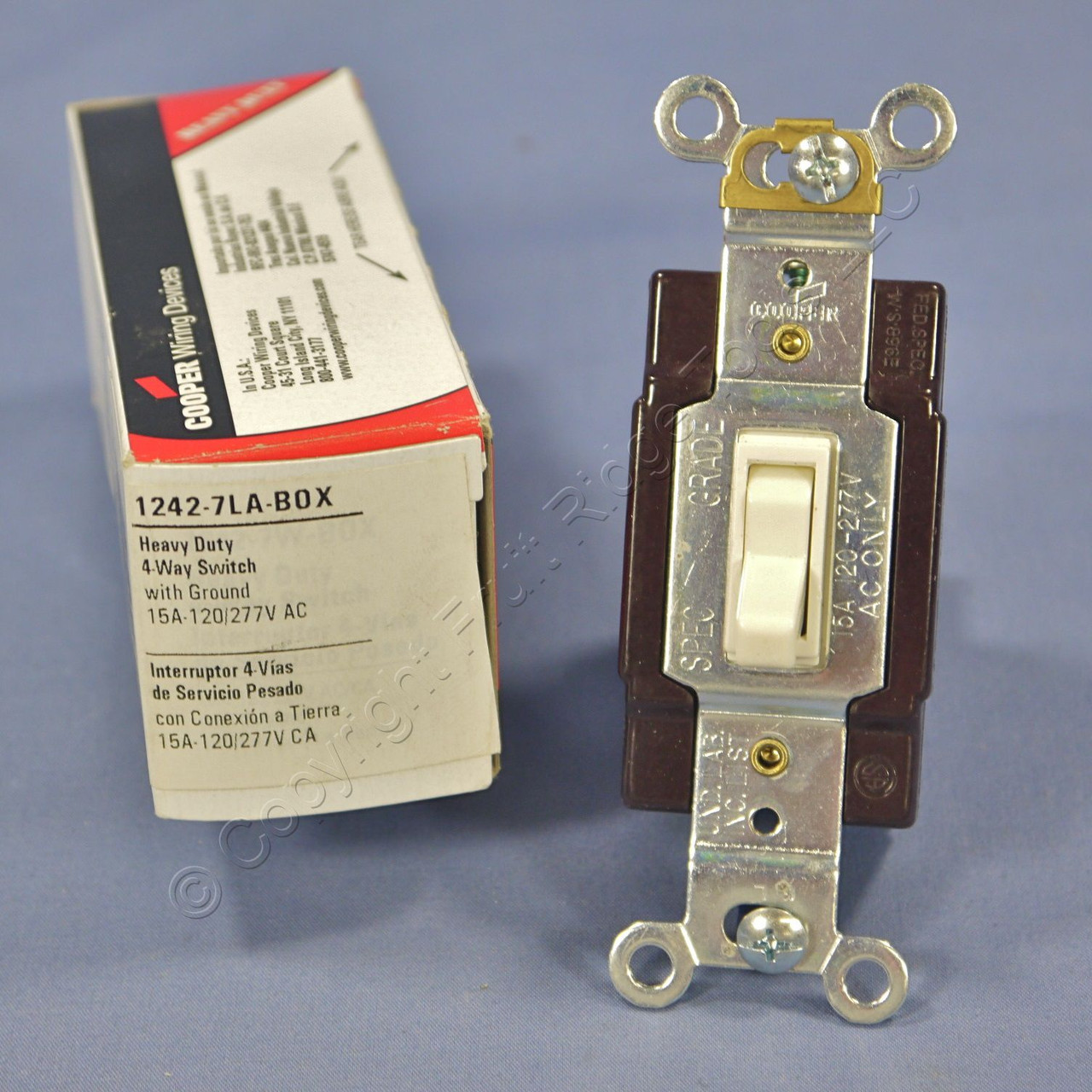 Cooper Wiring Devices Light Almond 4 Way Toggle Wall Light Switch 15a 120 277v 1242 7la In Stock Fruit Ridge Tools