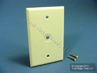 "Leviton Almond 1-Gang MIDWAY Phone Radio Cable Wallplate .312"" Opening 80513-A"
