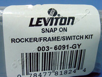 Leviton DHC Gray Color Change Conversion Kit for Decora Rocker Switch 6091-GY
