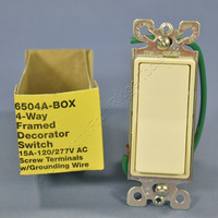 Eagle Commercial Almond 4-Way Decorator Quiet Rocker Wall Light Switch 15A 6504A