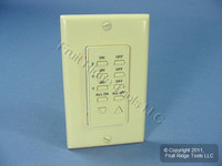 Leviton Ivory Faceplate Color Conversion Kit For 3-Address Dimming Controller DCK4A-I