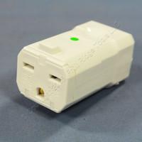 Leviton White Python INDUSTRIAL Cord Connector NEMA 6-15 6-15R 15A 250V 8659-V