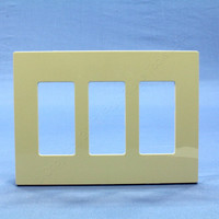 Leviton Ivory 3-Gang Midway Size Decora Screwless Wallplate Cover GFCI GFI SJ263-SI
