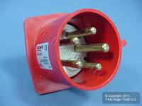 Leviton Pin & Sleeve Splashproof Plug Inlet 32A 220/380-240/415 SP532B6