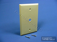 "25 Eagle Electric LARGE Ivory 0.375"" Telephone Coaxial Cable Wallplates 2028V"
