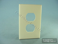 Leviton Lt Almond LARGE Unbreakable Receptacle Wallplate Nylon Outlet Cover PJ8-T