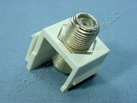 Cooper White Modular TV Video Connector F-Type Coaxial Cable Jack RG6 5552-5EW