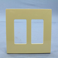 Leviton Ivory 2-Gang Midway Size Decora Screwless Wallplate Cover GFCI GFI SJ262-SI