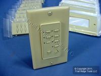 10 Leviton BLANK Ivory Face Plate Color Change Kits For Decora 6-Scene Controller DCK6S-BI