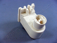 Leviton White High Output T8 T12 Fluorescent Lamp Holder T-8 T-12 HO VHO Light Socket Vertical Plunger End 13464