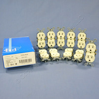 10 Leviton Almond RESIDENTIAL Duplex Receptacle Outlets NEMA 5-15R 15A 125V 5320-ROA