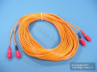 15M Leviton Fiber Optic Multi-Mode Duplex Patch Cable Cord SC 62.5/125 STD62-15M