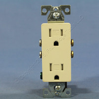 Cooper Light Almond TAMPER RESISTANT Decorator Receptacle Outlet NEMA 5-15 15A Bulk TR1107LA