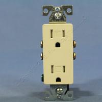 Cooper Light Almond TAMPER RESISTANT Decorator Receptacle Outlet NEMA 5-15 15A Bulk TR1107LA